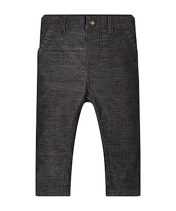 Navy Two-Tone Cord Trousers