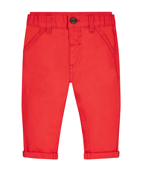 Red Ribwaist Chinos