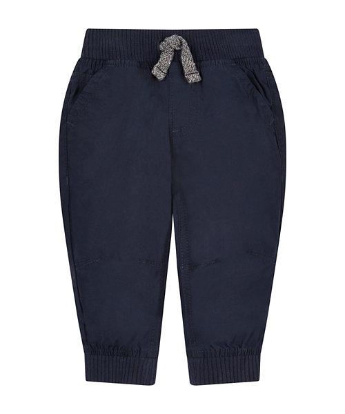 Navy Poplin Trousers