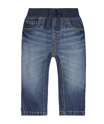 Mid Wash Ribwaist Jeans
