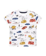 Vehicle And Dino Print T-Shirt