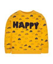 Yellow Happy Cloud Sweat Top