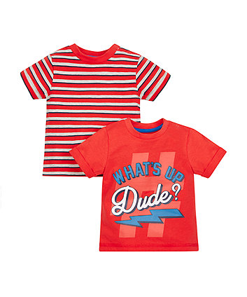 What'S Up Dude T-Shirts - 2 Pack
