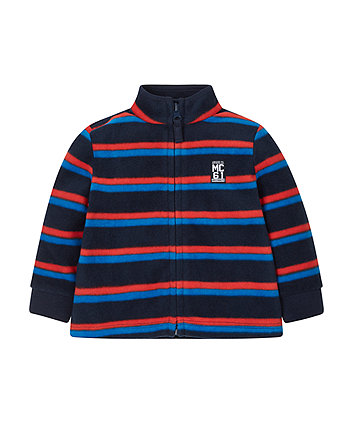 Red And Blue Striped Fleece