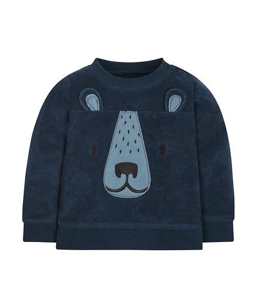 Bear Towelling Sweat Top