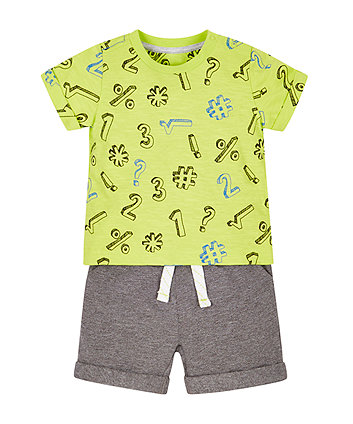Number T-Shirt And Shorts Set