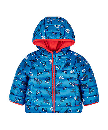 Blue Cars Padded Coat