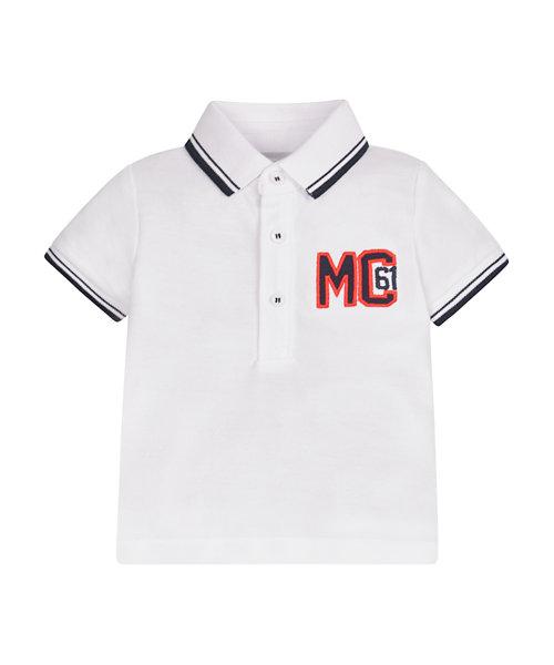 White Pique Polo Shirt