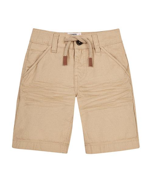 Tan Brushed Twill Shorts