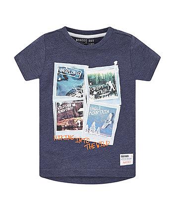 Blue Marl Polaroid T-Shirt