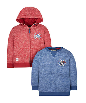Sporty Hoody And Sweat Top - 2 Pack