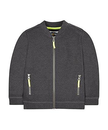 Grey Ribbed Jacket