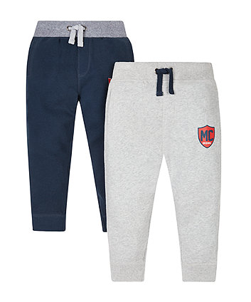 Navy And Grey Joggers - 2 Pack