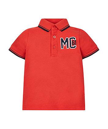 Red Pique Polo Shirt