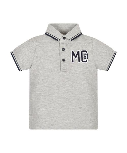 Grey Pique Polo Shirt