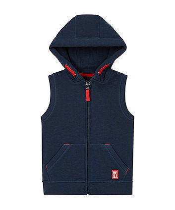 Navy Sleeveless Hoody