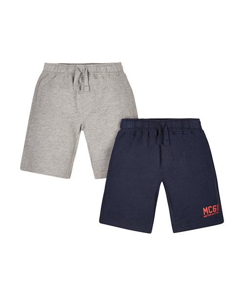 Navy And Grey Shorts - 2 Pack