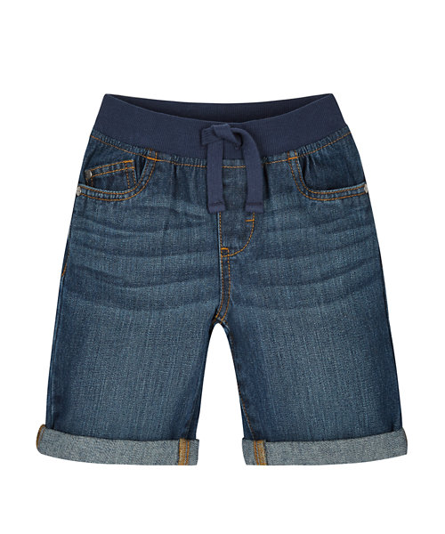 Ribwaist Denim Shorts