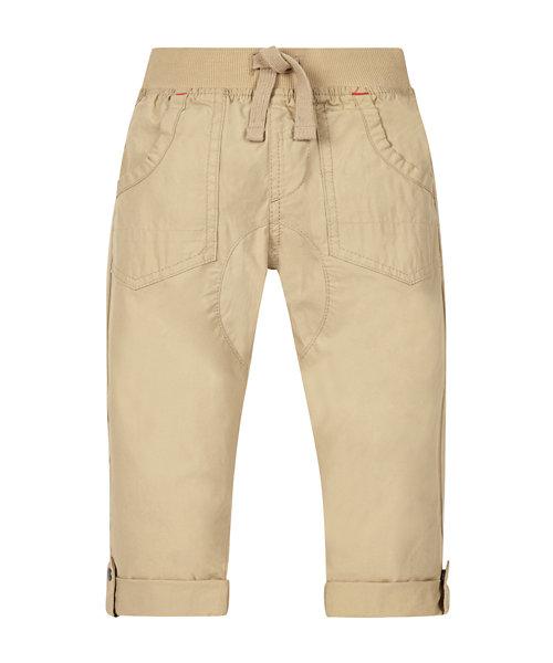 Beige Crunchy Cotton Trousers