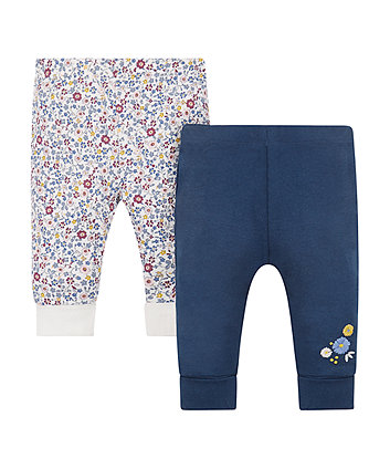 Navy And Floral Joggers - 2 Pack