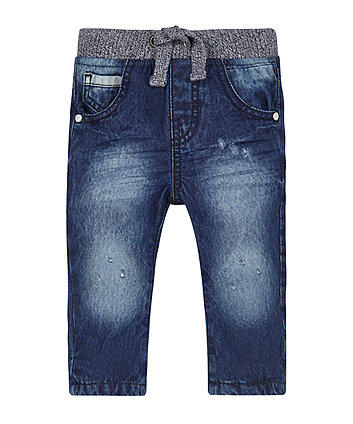 Jersey Lined Ribwaist Jeans