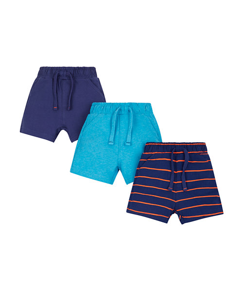 Colourful Cotton Shorts - 3 Pack