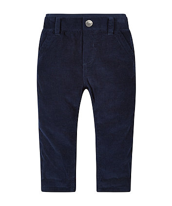 Navy Cord Ribwaist Trousers