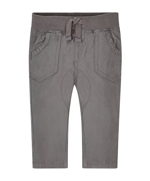 Grey Ribbed Waist Trousers