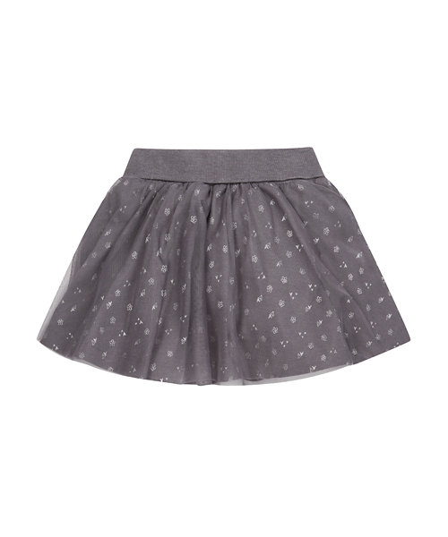 Charcoal Mesh Jersey Skirt