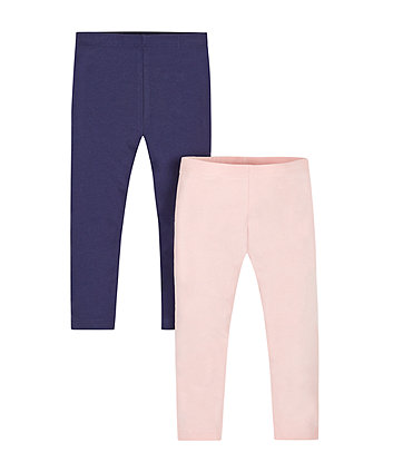 Navy And Pink Leggings - 2 Pack