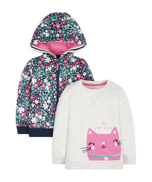 Be Pawsitive Sweat Top And Hoody Set