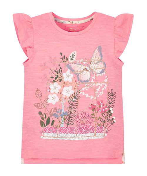 Floral Frill Shoulder T-Shirt
