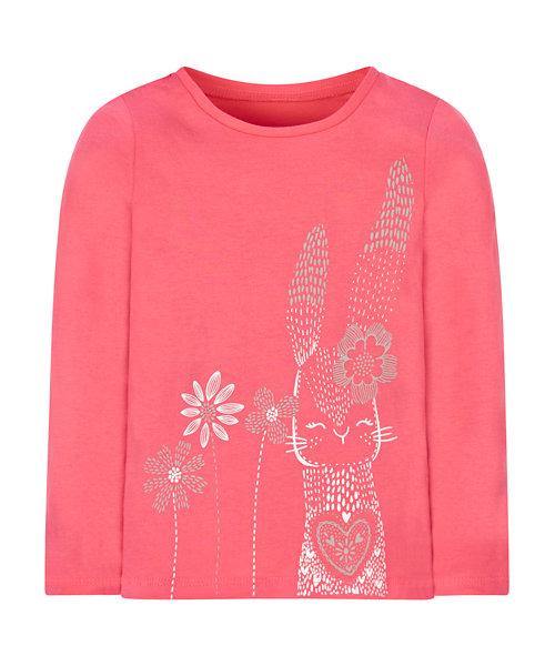 Pink Flower Bunny Tee