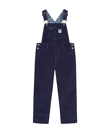 Navy Cord Dungarees -(3-4 years)