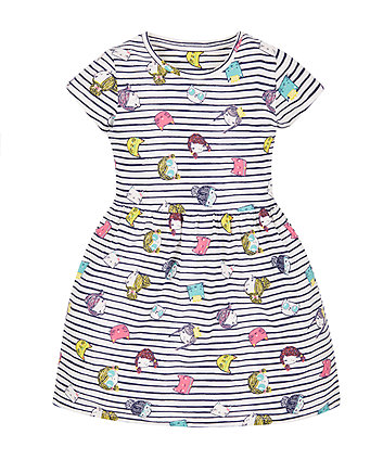 Stripe Girls Print Dress