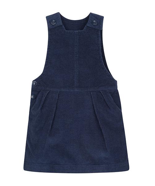 navy cord pinny dress