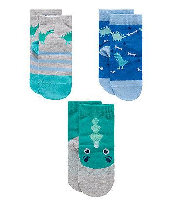 Dinosaur Socks - 3 Pack
