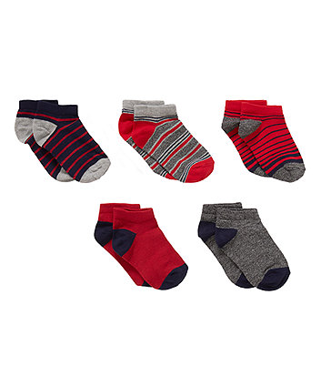 Striped Socks - 5 Pack
