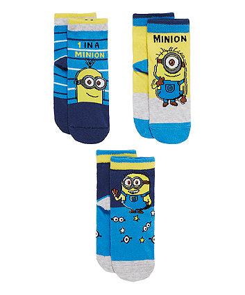 Minions Socks - 3 Pack