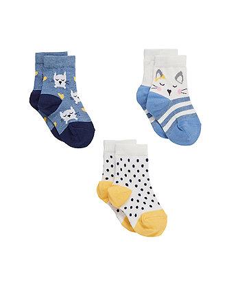 Cat Socks - 3 Pack