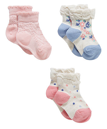 Floral Socks With Aegis - 3 Pack