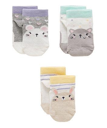 Animal Socks - 4 Pack