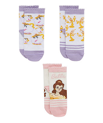 Disney Belle Socks - 3 Pack