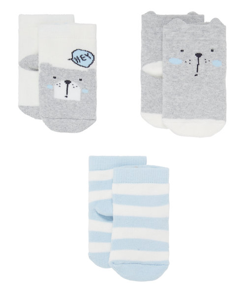 Terry Bear Socks - 3 Pack