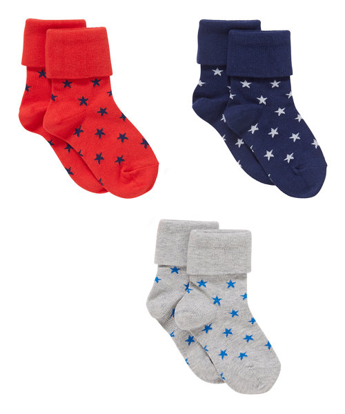 Star Tot Socks - 3 Pack