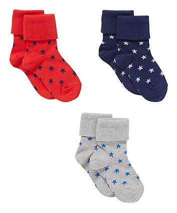 Star Tot Socks - 3 Pack