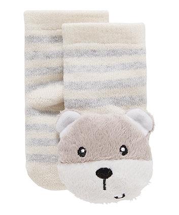 Bear Rattle Socks