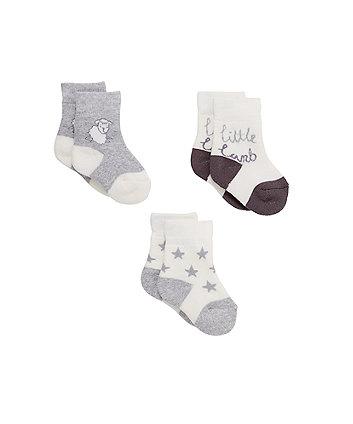 Little Lamb Socks - 3 Pack