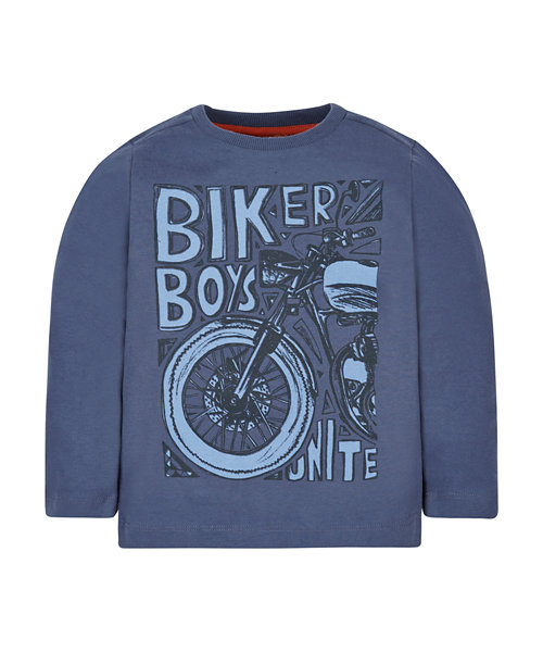 Blue Biker Boys T-Shirt