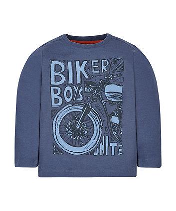 Blue Biker Boys T-Shirt